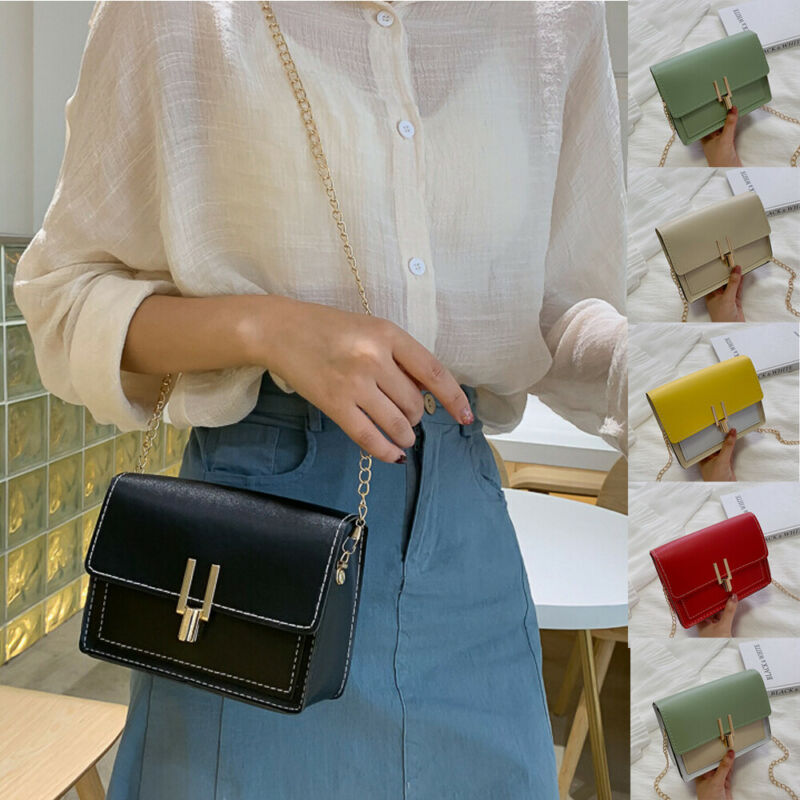 Women Shoulder Bags Ladies PU Leather  Purse Handbag Messenger Crossbody Bag Satchel   /BY