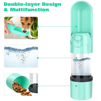 2021 Portable Pet Dog Water Bottle 300ml Drinking Bowl for Small Medium Large Dogs Feeding Water Dispenser Dogs Outdoor Bottles 1