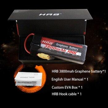 HRB Akumulator Do RC Lipo 2S 3S 4S 5S 6S 3800mah 120C Grafen Bateria 7.4V 11.1V 14.8V 18.5V 22.2V Lipo Do 1/8 1/10 1/12 RC Samochody Trx