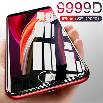 Перейти на Алиэкспресс и купить 9999D новое стекло для iPhone SE 2020 Защита экрана для iPhone 7 8 6 6S Plus 11 Pro X XR XS MAX закаленное стекло на iphone SE 2020
