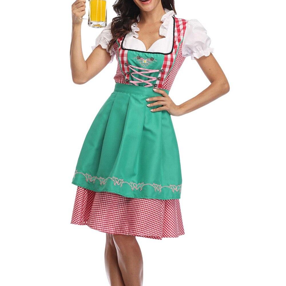 Women Oktoberfest Costume Dress German Oktoberfest  Dirndl Tavern Dress Cosplay Costume Party Dress
