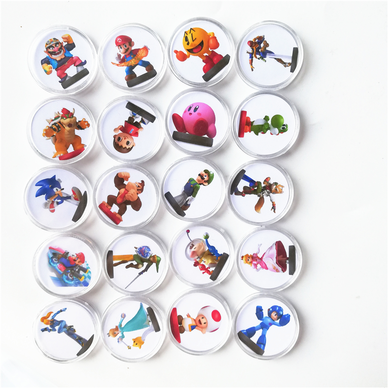 20Pcs Set Storage Box Mario Kart 8 NFC Game Card Tag For Amiibo Collection Coin Ntag215 Printed Sticker NFC Tag NS/Switch/Wii U image