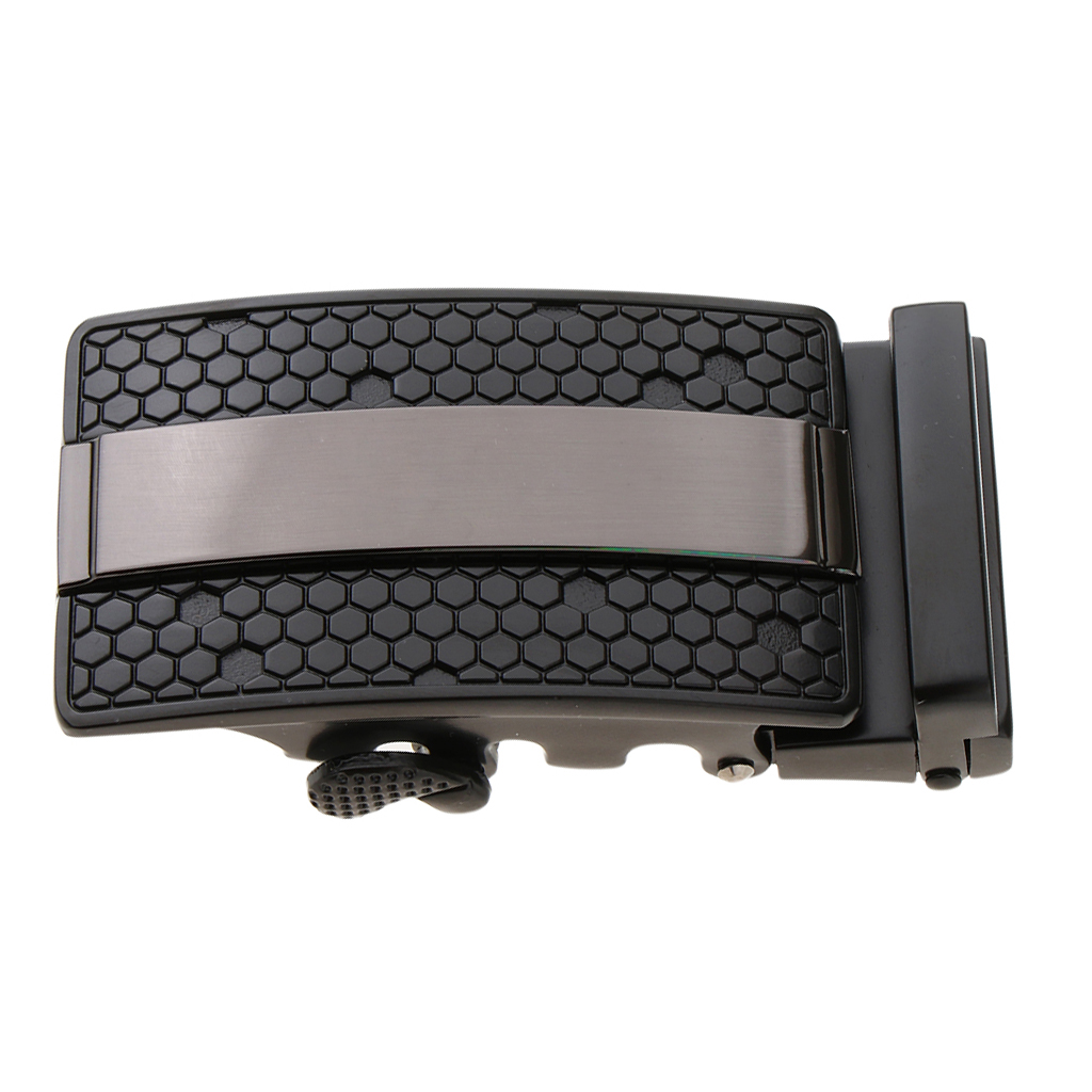 New Automatic Buckle Mens Waistband Ratchet Leather Belt Buckles Replacement