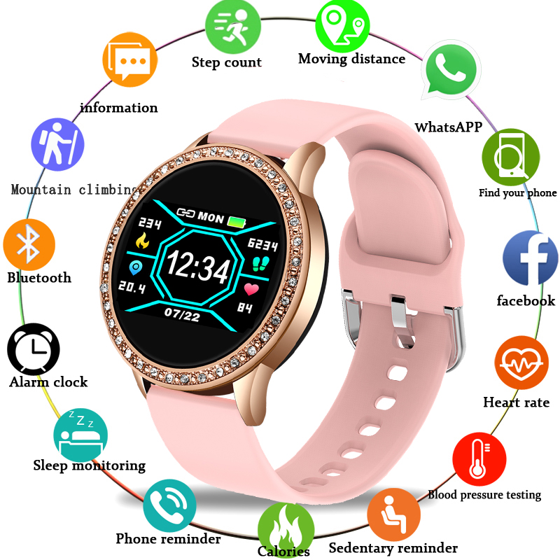 LIGE 2020 New Fashion Woman Watch Sports Fitness Tracker For Android Ios Heart Rate Blood Pressure Monitor Pedometer Watch Women