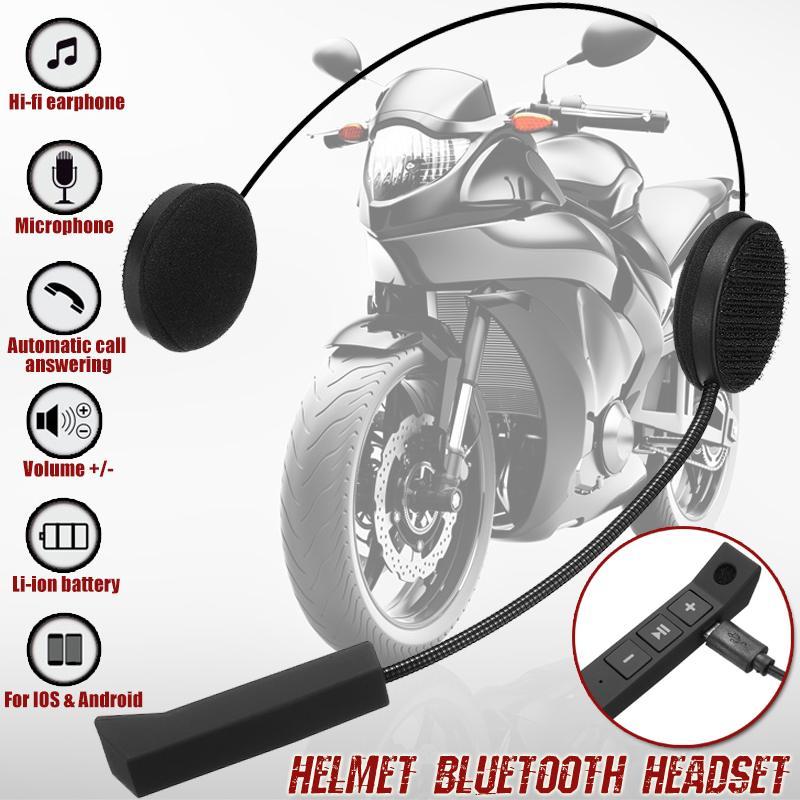 Motorrad Drahtlose bluetooth Helm Headset Helm Intercom Lautsprecher mit Mikrofon Freisprecheinrichtung Stereo Kopfhörer Kopfhörer