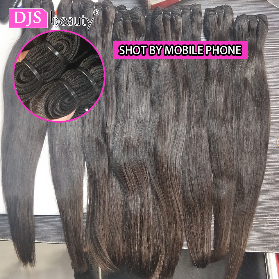 Straight Indian Unprocessed Virgin Young Girl Human Natural Color 11A Mink Hair Weave Bundle One-Donor DJSbeauty