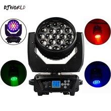 DJworld LED شعاع + غسل 19x15 واط RGBW التكبير الإضاءة تتحرك رئيس ضوء المرحلة ضوء ل DJ ديسكو ضوء الترفيه المنزلي شريط الحفلات