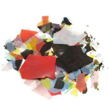 28 g/Set vidrio confeti gafas de Fusing coloridas microondas accesorios de horno mixto para decoración de arte y joyería DIY