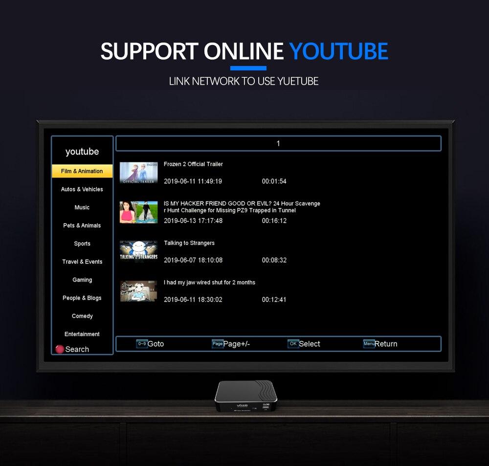 Totalmente 1080 p receptor terrestre digital DVB-T2