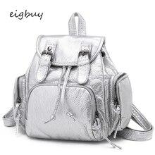 Folding Backpack Transparent Korean Style Lock Pu Solid Zipper Pink Casual Backpacks For Teenage Girls Mochila Bookbags