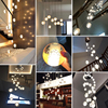 Modern Crystal Glass Ball LED Pendant Lights Fixtures Multiple Staircase Lamps Bar Hanging Lamp For Hotel Villa Duplex Apartment discount