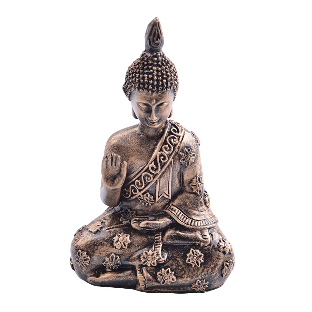 Home Decoration Hotel Small Artware Gifts Crafts Ornament Buddha Statue Desk Wedding Resin Buddhists Porch Temple Office