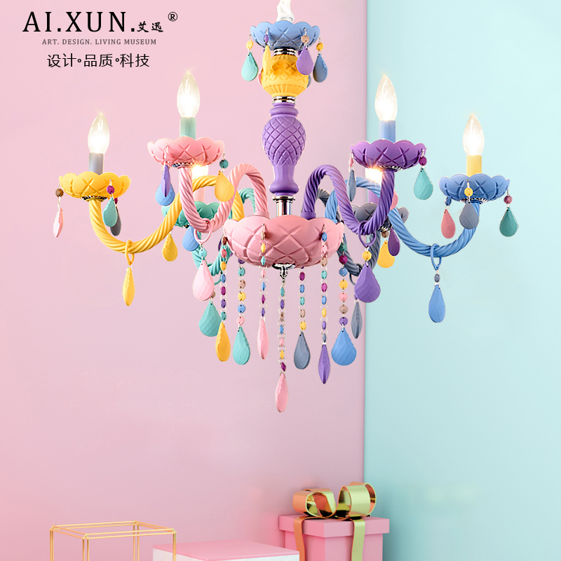 Kids room Chandelier Lighting for Living room Bedroom Kitchen Girl room Chandelier Lamp Macaron Multicolor Chandelier 200