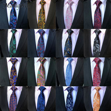 Neckwear Luxury Classics Man Tie Paisley 8cm Jacquard Woven Necktie Cravatta Silk Bridegroom Wedding Party Formal Gift