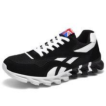 Homens correndo sapatos outono nova lâmina de couro do plutônio tênis alta qualidade luz ao ar livre confortável esporte atlético sapatos masculinos tênis