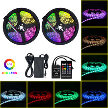 Music Control LED Strip Light Flexible Light Bar 5050 RGB Colorful Music Melody Smart Sound Control Light 10M/Set waterproof