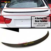 F82 fibra de carbono asa traseira do carro tronco spoiler p estilo para bmw série 4 420i 425i 430i 435i 2 porta parte superior dura spoiler traseiro 14 18 Spoilers e aerofólios     -