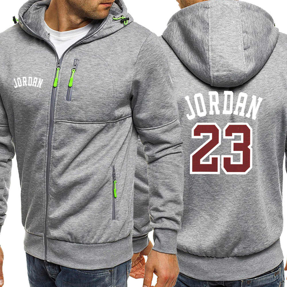 Jordan 23 Mens Rits Jassen 2019 Herfst Fleece Sport Kleding Mannen Casual Hooded Sweater Mannelijke Merk Trainingspak Hipster Jassen