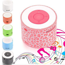 MP3 LED Light Portable Stereo Bass Speakers Travel Music Player Speaker Support TF Card Nice Gift For Children