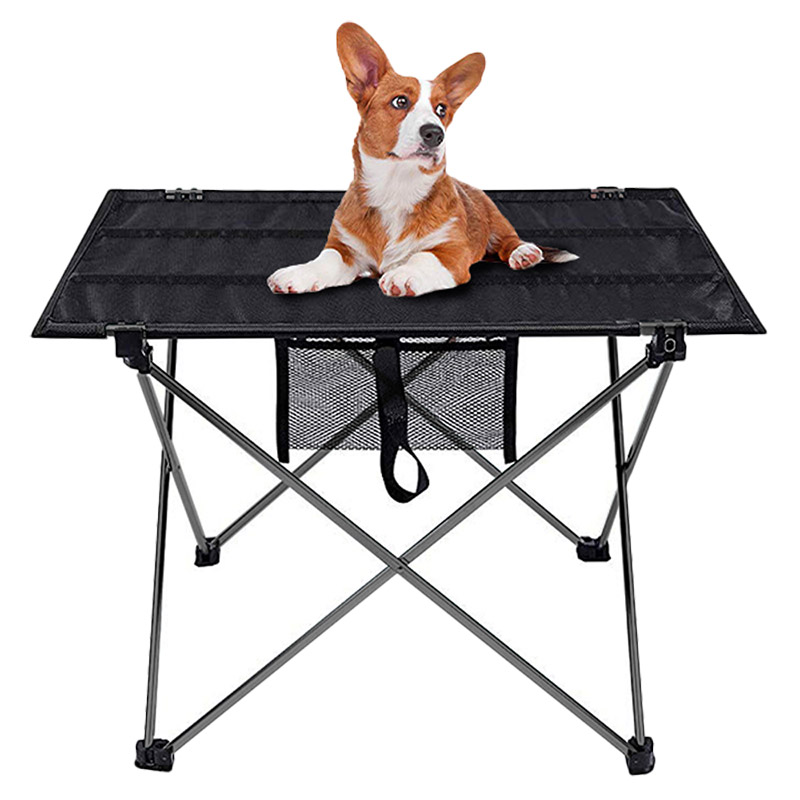 Portable Foldable Picnic Table Outdoor Furniture Gray Tables Aluminium Alloy Ultra Light Fishing Camping Equipment Folding Desk