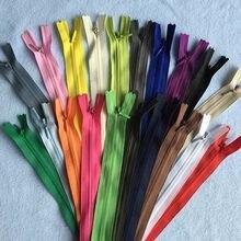 4 stücke 3 # Invisible Zipper Zip Zipp 28 35 40 45 50 55 60 100 150 cm Lange Schwarz weiß Nylon Ziper Zips Reißverschlüsse Für Nähen Kleidung