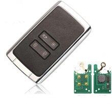 Alarme de carro 4 botão inteligente chave remota 434mhz hitag aes 4a chip para renault megane 4 keyless go/entrada chave do carro