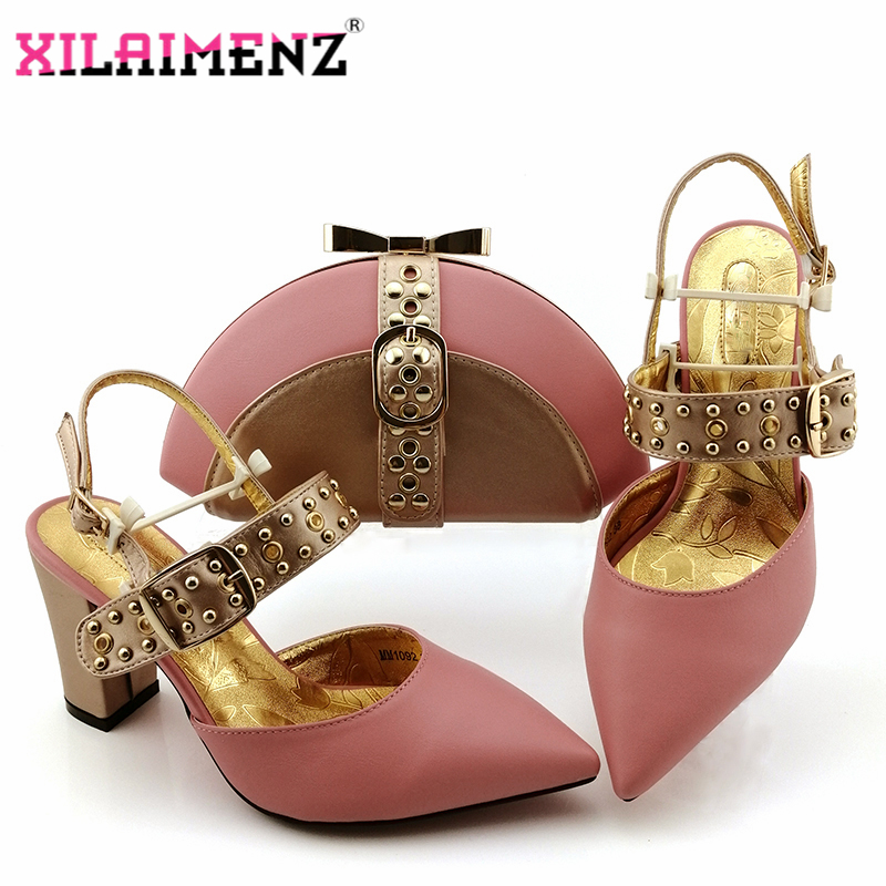 Image 4 - Royal Blue New Design Italian Elegant Shoes And Bag To Match Set  Italian Comfortable Heels Party Shoes And Bag Set For WeddingWomens  Pumps