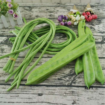 cupboard sideboard Kitchen store shop decoration props artificial fake vegetables carob lentils long string green bean peas image