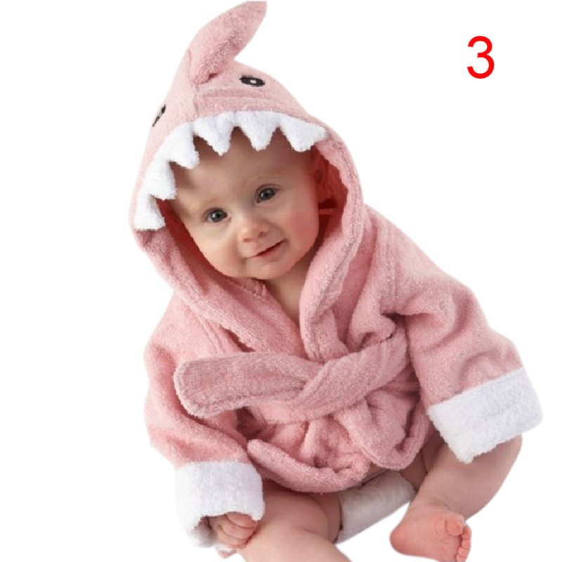 100% Cotton Hooded Animal Baby Bathrobe Cartoon Baby Towel Character Kids Bath Robe Infant Towels