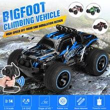Coche de carreras eléctrico de alta velocidad con Control remoto, camión todoterreno, Buggys, juguete electrónico, 2WD 1/14 60 km/h