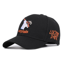 2019  19 Rap Hot Style Letters Luifer Dark, Embroidery Heads Street Baseball Cap Mens And Womens Spring Summer Sun Hat