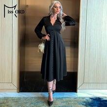Missord 2021 винтажное сексуальное женское платье с глубоким