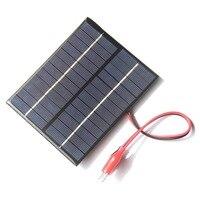 Buheshui 2 w 12 v 태양 전지 솔라 모듈 다결정 diy 솔라 패널 시스템 9 v 배터리 충전기 + dc 5521 케이블 3 m