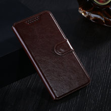 Leather Silicone Phone Case for Lenovo Vibe C2 / C2 Power K10A40 Flip Leather Wallet Protective Phone Cover Case With Card(China)