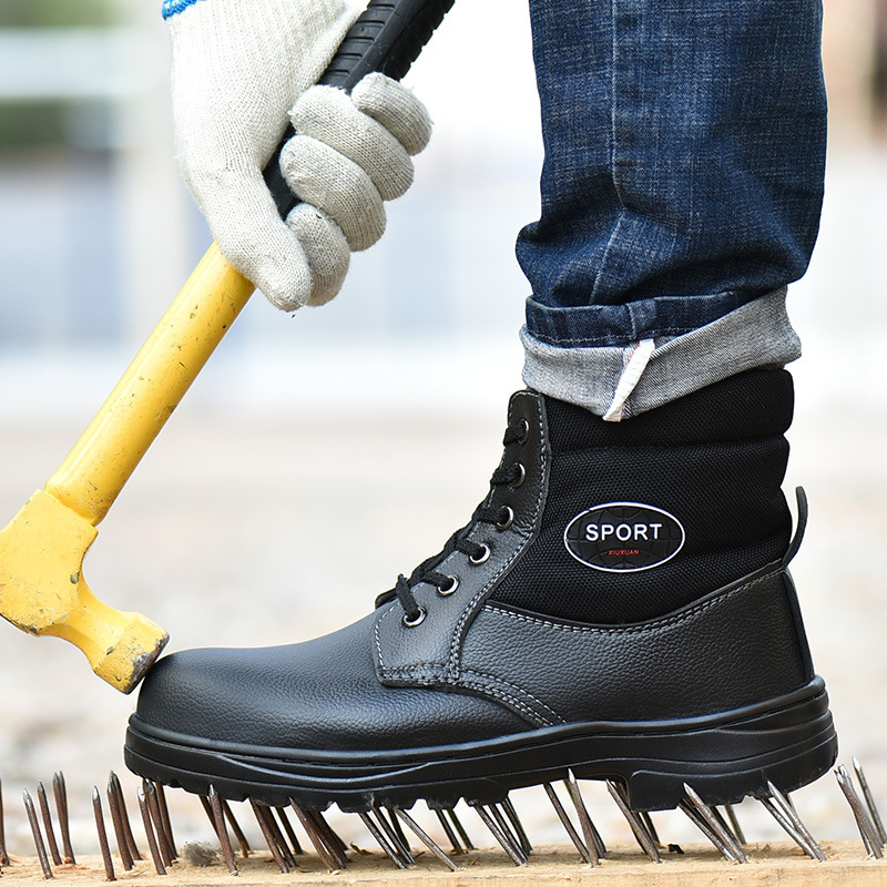 Winter Work Safety Boot Warm Fur Men Boots Steel Toe Safety Shoes Winter Boots Men Work Boots Male Shoes Adult Boots Men 39