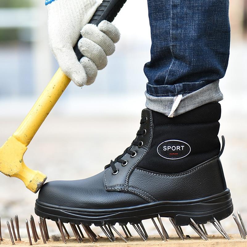 Winter Work Safety Boot Warm Fur Men
