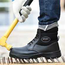 Winter Work Safety Boot Warm Fur Men Boots Steel Toe Safety Shoes Winter Boots M
