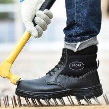 Winter Work Safety Boot Warm Fur Men Boots Steel Toe Safety