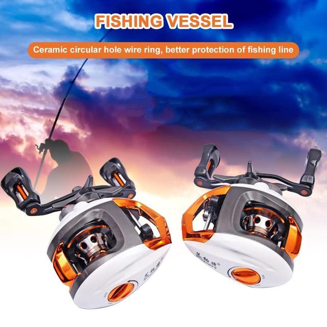 Spinning Blobfish Wheel Fishing Accessories Baitcasting Reel 12+1 Ball Bearings 6.3:1 Gear Ratio Magnetic Braking System
