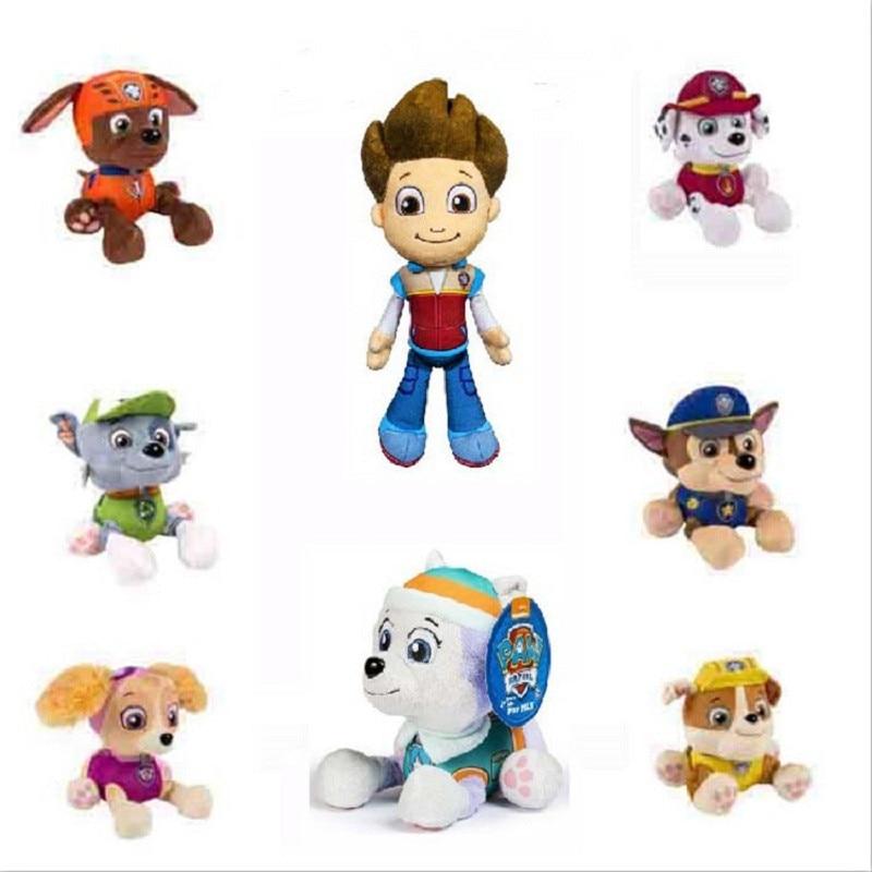 Paw devriye oyuncaklar köpek 20cm peluş bebek Anime çocuk oyuncakları eylem şekilli kalıp doldurulmuş ve peluş hayvanlar oyuncak pençe devriye doğum günü hediyesi