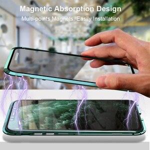 Image 2 - Luphie Enveloppement Complet pour iphone 12 Pro Max mini 11 Xs 9H Verre Trempé Téléphone Magnétique Cas X SE 7 8 Plus Xr Couvercle Magnétique