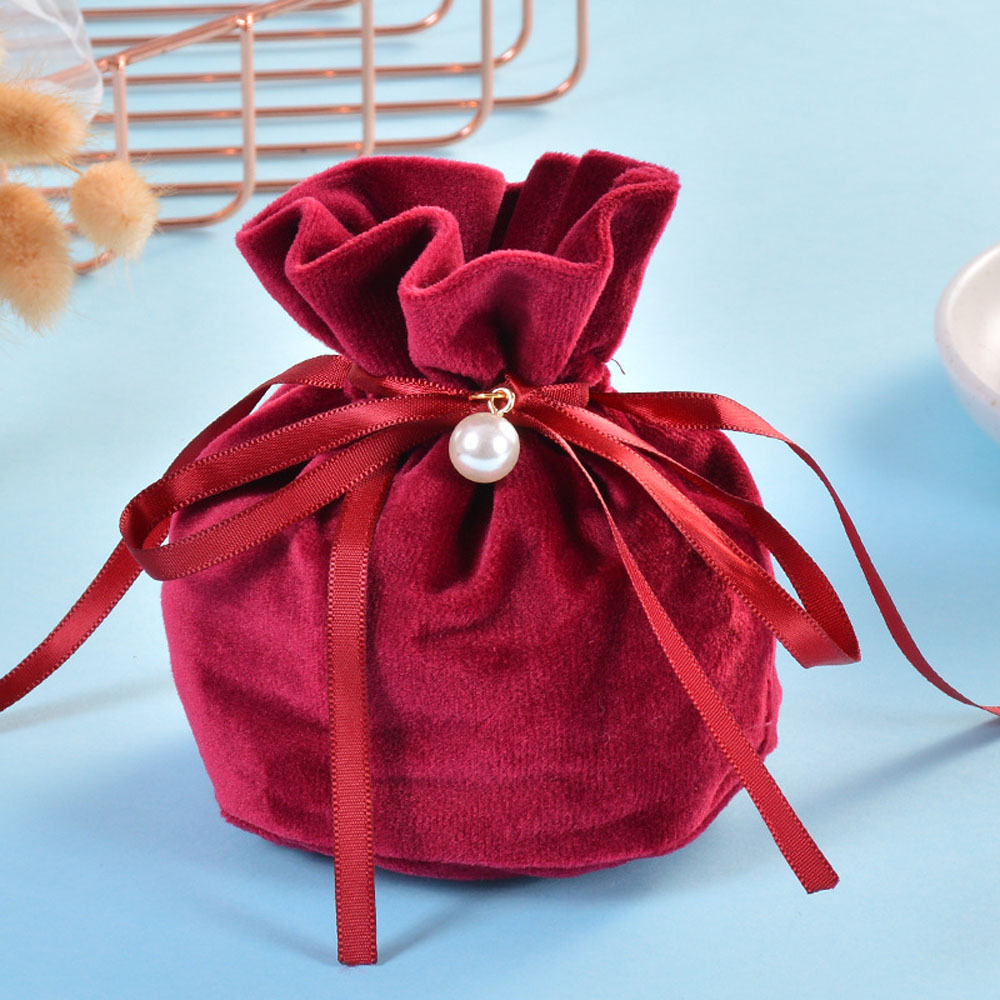 Creative Velvet Yarn Jewelry Pouch Wedding Christmas Gift Bags Jewelry Packaging Bags Candy Gift Bags Jewelry Bag 9*12 cm