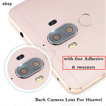 Rear Back Camera Lens Glass cover with sticker or 3M glue stickers For Huawei 6 6X Mate10 Lite 8 9 Ascend P7 image