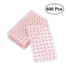 600 pces descartável imprensa agulha orelha sementes acupuntura vaccaria gesso feijão massagee multi-condição orelha semente acupressure kit
