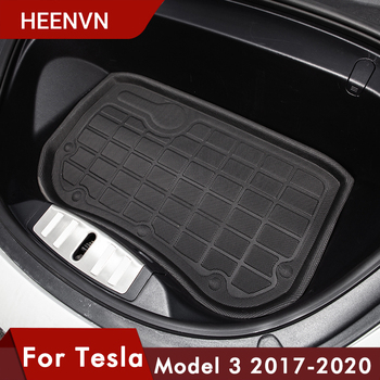 Heenvn Model3 Car Waterproof Front Trunk Mats For Tesla Model 3 Front Storage Mat Cargo Tray Protective Pads Mat Model There New hot car front trunk storage mat cargo tray trunk waterproof protective pads compatible for subaru xv forester outback 2019