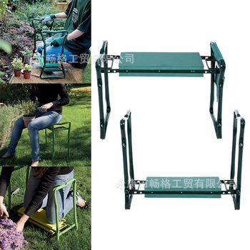 Cheap Folding Garden Kneeler and Seat Multifunctional Seat Stainless Steel Garden Stool Bearing 150KG Fast Arrive In Few Days