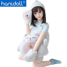 Hanidoll Silicone Sex Dolls 100cm Mini Love Doll Full Sized Realistic Vagina Oral Anal Breast Small doll Toys for Men