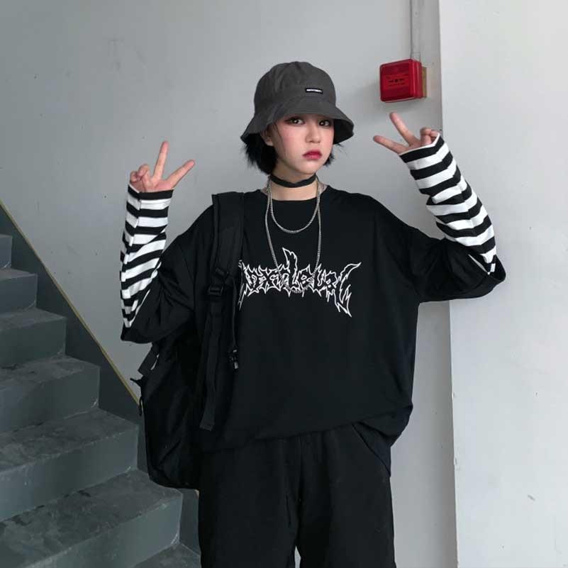 NiceMix 2019 Autumn American Simple Letter Print T-Shirt Men's Cotton Harajuku Retro Pullover Women's Short Sleeve Shirt TOP