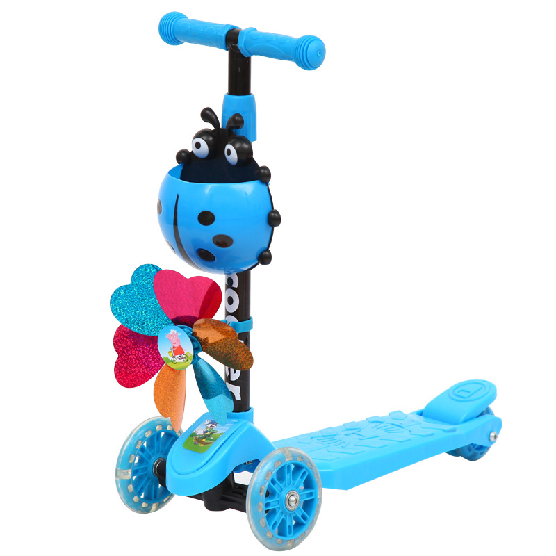 Flash Wheel Children Scooter Tricycle Baby Balance Bike Ride On Toys Flash Folding Meter Car Child Toys Ride On Toys2-8years Old