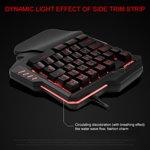 Image 5 - Light One Handed Mechanical Gaming Keyboard 35 Keys Gaming Keypad Cool Light RGB Backlit Game Controller For PC PS4 Xbox